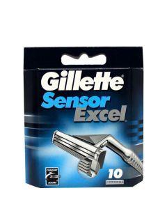 Gillette Sensor Excel Barberblade, 10 stk.