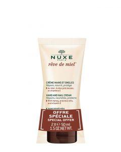 Nuxe Reve De Miel Hand And Nail Cream Duo, 2x 50 ml.
