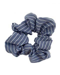 JA•NI hair Accessories - Hair Scrunchie, The Blue Striped