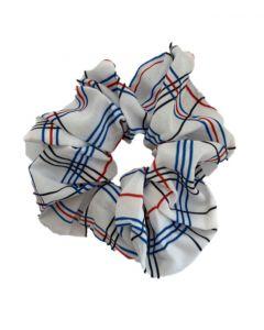 JA•NI hair Accessories - Hair Scrunchie, The White Checkered