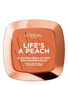 L'Oreal Paris Life's a Peach Blush Powder 01 Peach Addict, 9 g.