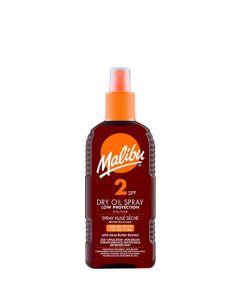 Malibu Dry Oil Spray SPF2, 200 ml.