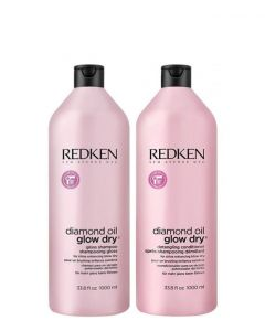 Redken Diamond Oil Glow Dry Duo, 2 x 1000 ml.